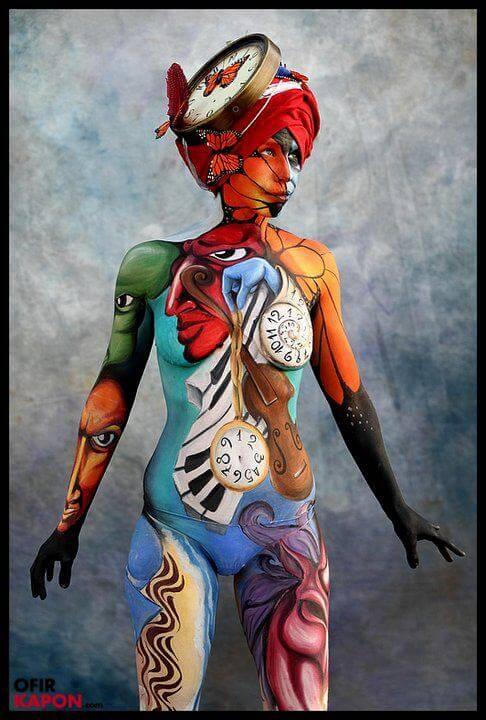 מקום ראשון באליפות ישראל בציורי גוף, תל אביב 2012