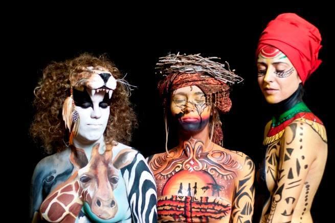 מיצג חי בפסטיבל בנושא אפריקה 2014