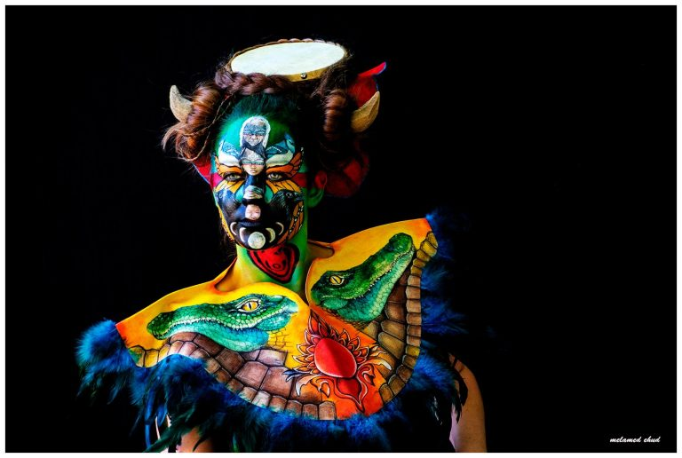 FIRST PRIZE in the WORLD BODYPAINTING FESTIVAL 2018, Facepainting category