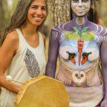 מיצג ציור גוף והופעה עם הזמרת זהר דואני meditasao בית קשת