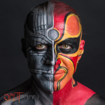 SPLITBRAIN- Facepainting, Logo and Album Cover Design