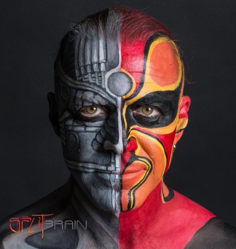SPLITBRAIN ציור פנים ועיצוב לוגו ועטיפה לאלבום
