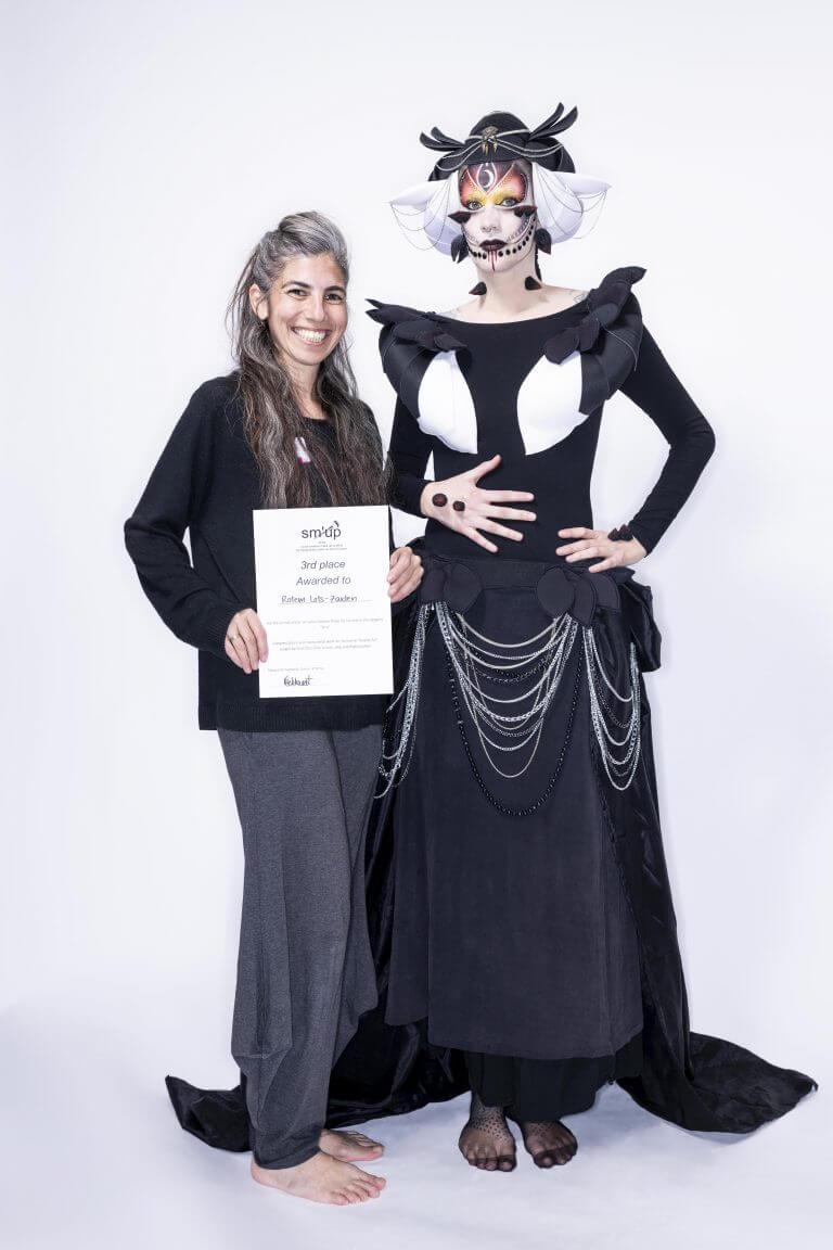 מקום שלישי בתחרות איפור קריאייטיבי בשוויץ, 2019