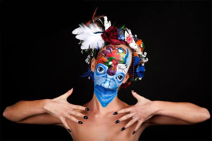 מקום 3 בתחרות ציורי פנים, שוויץ 2013