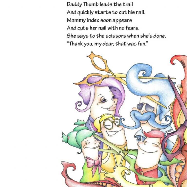 איור ספר ילדים- NILS CUTS HIS NAILS